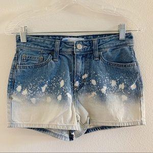 Levi's 2 Tone Denim Shorts w/ White Splotch Design